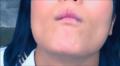 Cum on beautiful japanese mouth